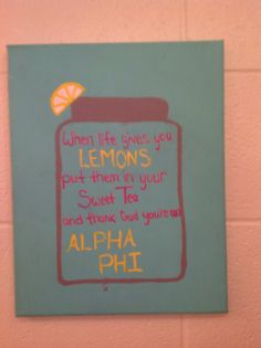 Big's love crafting for their littles #diy #alphaphi #biglittle