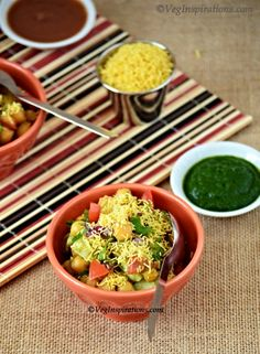 Aloo Chana Chaat ~ Indian snack with Chickpeas and Potato. This is Vegan, Gluten Free, and Delicious!