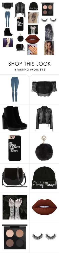 """""""cute"""" by evanspam on Polyvore featuring beauty, Topshop, Hogan, Boohoo, Casetify, Humble Chic, Rebecca Minkoff, Warner Bros., Nature Girl and Lime Crime"""