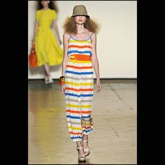 Marc by Marc Jacobs. Creme and color stripes, sheen and light