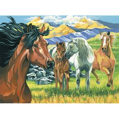 12×16 Paint By Number Kit – Wild Horses « Blast Groceries