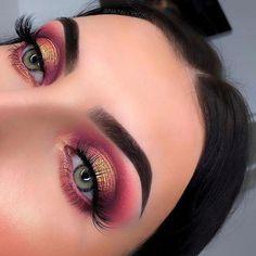 Make-up-Idee Rotgold - Make up Storage Glam Makeup, Cute Makeup, Pretty Makeup, Skin Makeup, Makeup Inspo, Beauty Makeup, Makeup Eyebrows, Huda Beauty, Makeup Ideas