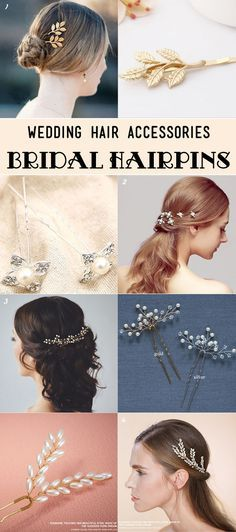 small pretty sparkle bridal hairpins and hairclips