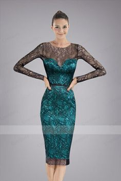 Ravishing Knee-length Cocktail Dress with Delicate Lace Cover