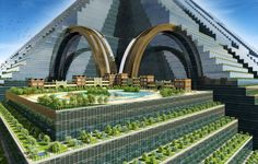 "Timelinks is a sustainable design firm in the United Arab Emirates. The firm's Ziggurat is ""a building-city where people, nature, and modern technology are united"" in a single structure measuring about one square mile at the base, which the company says could house up to 1 million people. Residents would commu..."