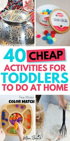 40 Fun Bargain Activities For Toddlers to Do At Home