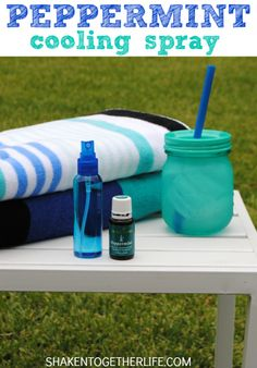 Peppermint cooling spray - perfect for the beach, the ballpark or by the pool!