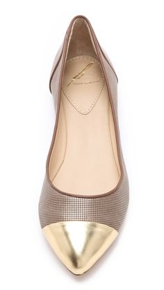 B Brian Atwood Avignon Ballet Flats with Cap Toe #flats #style #classic