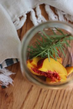 Homemade Peach Rosemary Kombucha | oysters and pearls                                                                                                                                                                                 More