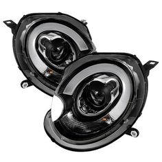 ( Spyder ) Mini Cooper 2007-2012 Projector Headlights - Halogen Model Only ( Not Compatible With Xenon/HID Model ) - DRL - Black