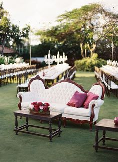 Both low-key and luxe at once, outdoor opulence is one of our favourite themes this wedding season.