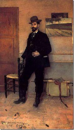 Ramón Casas Carbó (1866-1932). Retrato de Santiago Rusiñol_1889