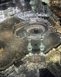 2 Million worshipers praying the 'Isha and Taraweeh prayers in Makkah on the 27th of Ramadan.