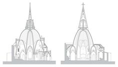 Image 1 of 23 from gallery of Catalan Church Restored Using Ingenious Tensioning System. © Santi Prats i Rocavert Gaudi, Architecture Drawings, Best Wordpress Themes, Kirchen, Sacred Heart, Restoration, Gallery, Image, Bella