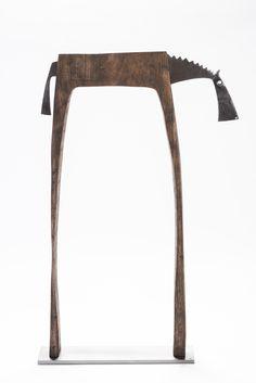 Horse - wood, steel, height 65 cm (2015)