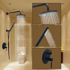 Round Shower System Wall Mount Ceramic Valve Oil-rubbed Bronze, Shower Faucet - USD $166.23 ! HOT Product! A hot product at an incredible low price is now on sale! Come check it out along with other items like this. Get great discounts, earn Rewards and much more each time you shop with us!