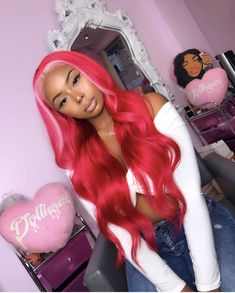 Hair goals and inspiration! Tag a bestie who would love this! Baddie Hairstyles, Black Girls Hairstyles, Pretty Hairstyles, Fashion Hairstyles, Cute Hair Colors, Pretty Hair Color, Colored Wigs, Coloured Hair, Curly Hair Styles
