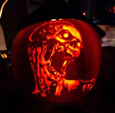 pumpkin carving | Zombie Pumpkin Carving by ~ashleymenard122 on deviantART