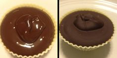 Healthy peanut butter cups made by Courtney Lee via her blog treadmillrunway.com!