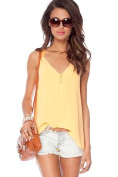 Y Me Tank Top in Canary $30 at www.tobi.com