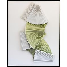 Dawn Wolfe, Pleated Celadon Abstract - Dawn Wolfe Design - Brands One Kings Lane Deco Paint, Hanging Artwork, Wall Installation, Abstract Sculpture, Abstract Art, Mural Painting, Paintings, Modern Photography, Wall Sculptures