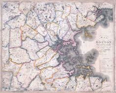 Boston and Its Vicinity From Actual Survey, 1819. By John Hales.    Map Reproduction Courtesy of the Norman B. Leventhal Map Center at the Boston Public Library.