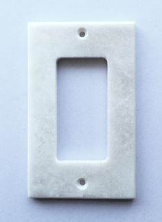 White Marble (Meram Blanc) Single Rocker Switch Wall Plate / Switch Plate / Cover - Polished