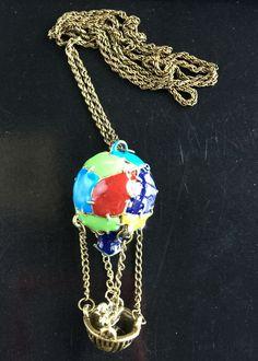 Multicolor Hot Air Balloon umbrella type Pendant Necklace Fine Jewelry For Women | eBay
