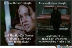 This is why Hunger Games is better than Twilight... Actually, most movies are better than Twilight. Sorry Twilight fans