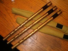 Löfgren hand made whistles, Brass and african blackwood