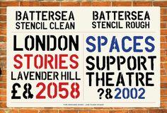 #stencils @battersea_arts stencil typefaces  via @JakeTilson