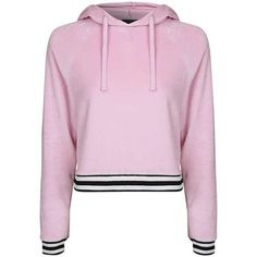 Topshop Velour Loungewear Hoodie ($30) ❤ liked on Polyvore featuring tops, hoodies, topshop, striped top, velour hoodies, sweatshirt hoodies, pink hoodies and pink hoodie