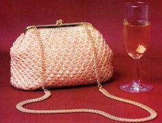 Precioso bolso en ganchillo o crochet