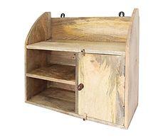 Estantería de madera envejecida Ylina