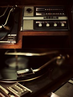 vintage turntable/record player