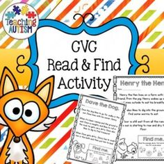 CVC Read & Find, Highlighting Activity, Short Passages, No PrepThis is a great and different way to help students with their CVC/word recognition. It comes with instructions on the first page and all pages come as black and white for ink friendly printing.Students read the short passage on each page, then using the 'find me' box at the bottom of the page to see what CVC words they are looking for.