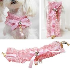 New Pet Neck Lace Puppy Cat Dog Lace Pearl Pendant Collar Princess Necklace L Cute Dog Collars, Leather Dog Collars, Cat Collars, Cat Dog, Pet Puppy, Online Pet Supplies, Dog Supplies, Dog Necklace, Collar Necklace