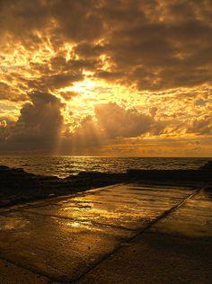 Landscape Sea Sky Sun Clouds Meir Ezrachi