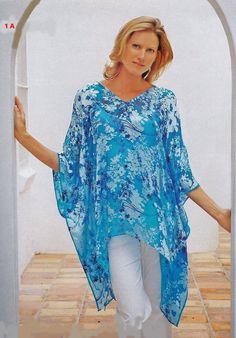 Easy Caftan Pattern this is pic of pattern with Russian instructions Sewing Patterns Free, Free Sewing, Clothing Patterns, Diy Clothing, Sewing Clothes, Kaftan Pattern, Estilo Hippie, Diy Tops, Diy Dress