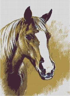 free cross stitch patterns in pdf format with a horse