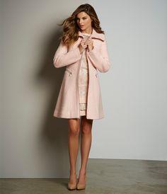 Jessica Simpson A-Line Bouclé Coat