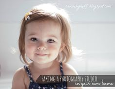 Faking a photography studio in your own home!