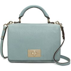 Brighton Park Carlyle ($243) ❤ liked on Polyvore featuring bags, handbags, shoulder bags, kate spade, dusty blue, green purse, kate spade purses, kate spade handbag and woven handbags