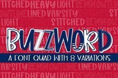 Buzzwords (Font) by Justina Tracy · Creative Fabrica Sans Serif Fonts, Handwritten Fonts, All Fonts, Font Design, Graphic Design, Modern Font, Cricut Fonts, Script Logo, Premium Fonts