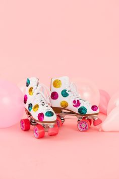 Make a pair of '80s-inspired sequin roller skates with this DIY project.