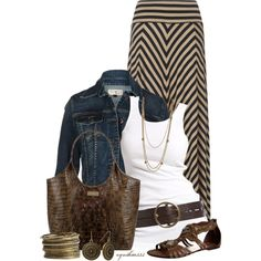 """Maxi Skirt with Sandals"" by cynthia335 on Polyvore"