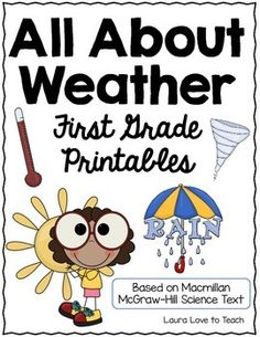 All About Weather: First Grade Printables