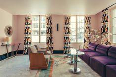 Dimorestudio, cabinet milanais d'excellence, a fait de l'ancienne maison du duc de Choiseul un morceau de bravoure décoratif. L'hôtel Saint-Marc à Paris. © Philippe Servent