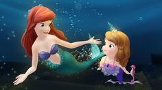 Little Mermaid's Ariel will guest star on Sofia the First this November.  More details on TheDisneyKids.com #PRINCESS ARIEL #PRINCESS SOFIA #SofiatheFirst