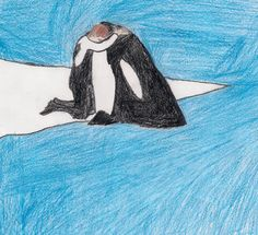 This drawing shows the bond between orcas and trainers. It's a bond that can't be broken.